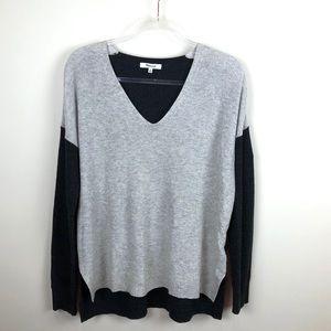 Madewell Warmlight Colorblock V-Neck Sweater Med M